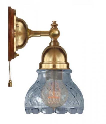 Wall Lamp - Adelborg brass, clear glass