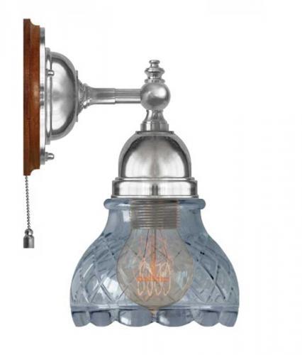 Wall Lamp - Adelborg nickel, clear glass