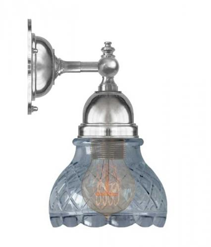 Bathroom Wall Lamp - Adelborg nickel-plated, clear glass