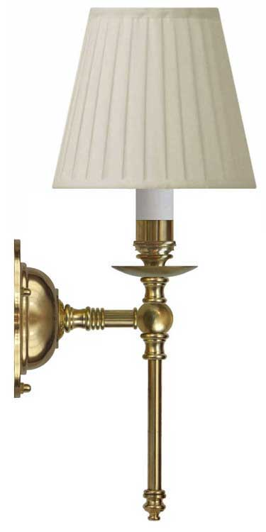 Wall lamp - Ribbing brass, beige shade