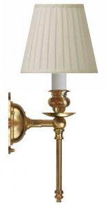 Wall lamp - Ribbing brass, beige shade