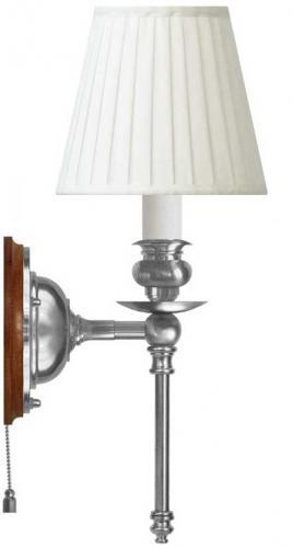 Wall lamp - Ribbing nickel-plated brass