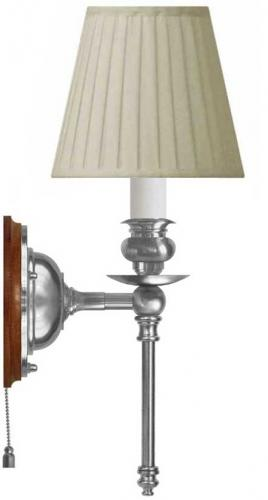 Wall lamp - Ribbing nickel-plated brass, beige shade