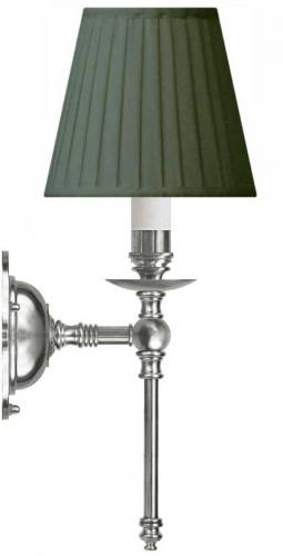 Wall lamp - Ribbing brass, green shade