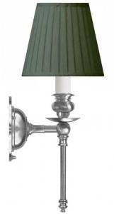 Vegglampe - Ribbing nikkel, grønn skjerm