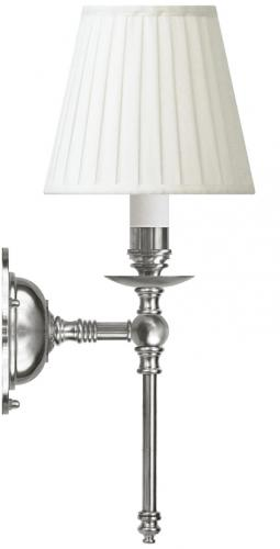 Wall lamp - Ribbing nickel-plated brass