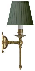 Wall lamp - Ribbing brass, green shade