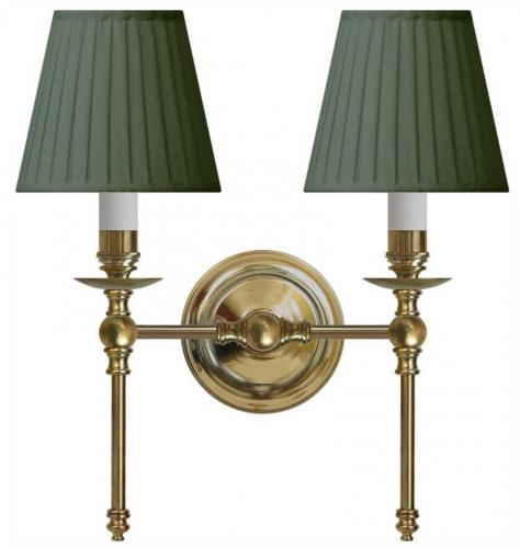 Wall lamp Wivallius green textile shades