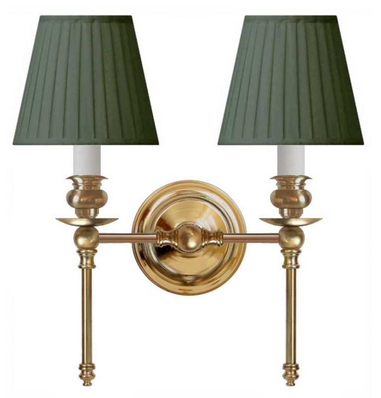 Wall lamp Wivallius green textile shades