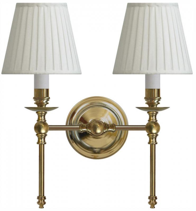 Wall lamp Wivallius white textile shades