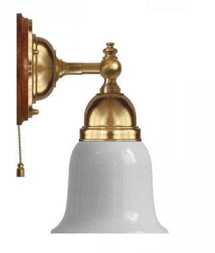 Wall lamp - Adelborg brass, opal white bell