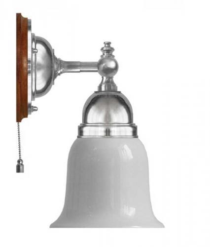Wall lamp - Adelborg nickel, opal white bell