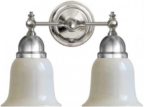 Wall lamp - Bergman nickel, opal white bell