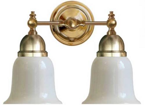 Wall lamp - Bergman brass, opal white bell