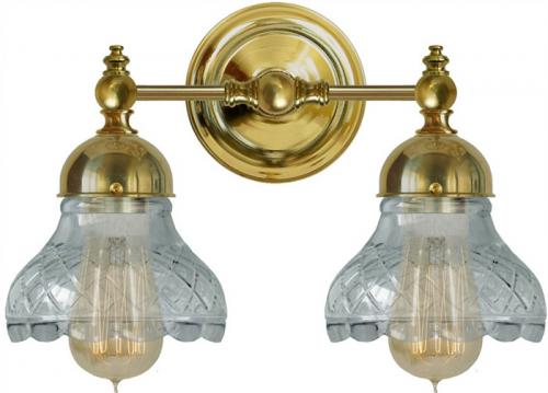 Bathroom Wall Lamp - Bergman with clear cut glass - old style - vintage interior - classic style - retro