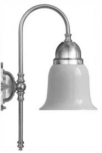 Wall lamp - Ahlström nickel-plated with white glass