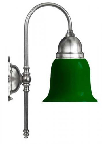Bathroom Wall Lamp - Ahlström nickel, green glass