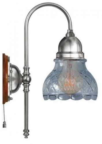 Wall lamp - Ahlström nickel clear cut bell shade