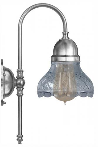 Bathroom Wall Lamp - Ahlström nickel, clear glass