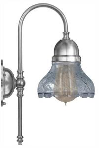 Wall lamp - Ahlström nickel clear cut bell shade