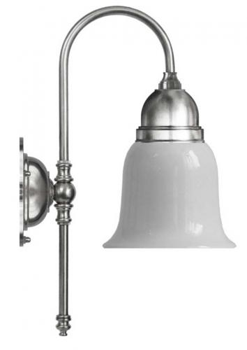 Bathroom Wall Lamp - Ahlström nickel, opal white glass
