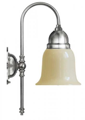 Wall lamp - Ahlström nickel-plated with off white glass