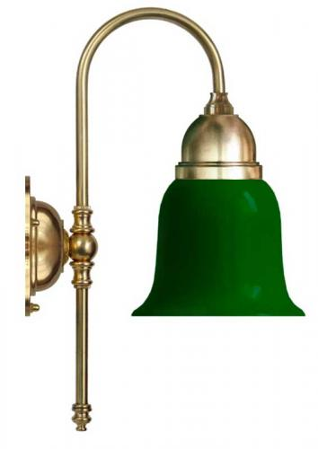 Bathroom Wall Lamp - Ahlström brass, green glass