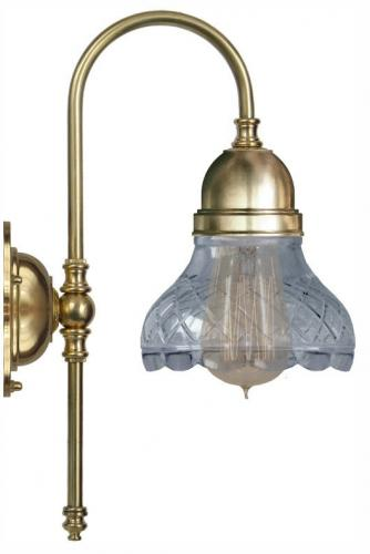 Wall lamp - Ahlström clear cut bell shade