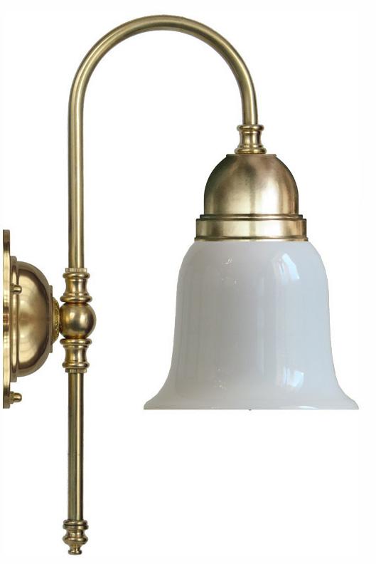 Badrumslampa - Ahlström 60 opalvit klocka