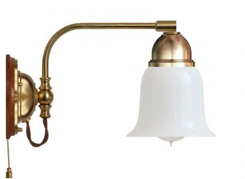 Wall lamp - Gripenberg opal white clock shade