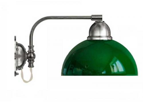 Wall lamp - Gripenberg 60 nickel opal green clock shade