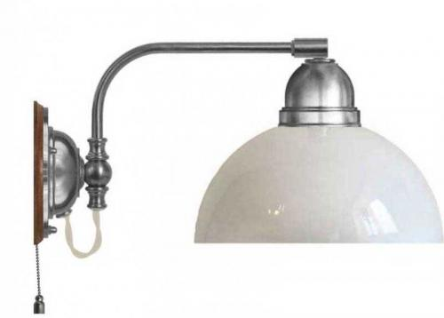 Wall lamp - Gripenberg 60 nickel opal white shade