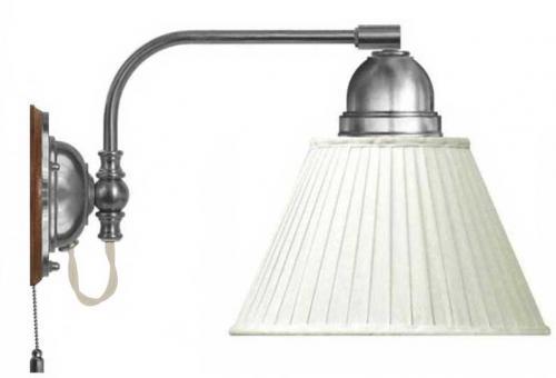 Wall lamp - Gripenberg 60 nickel white textile shade
