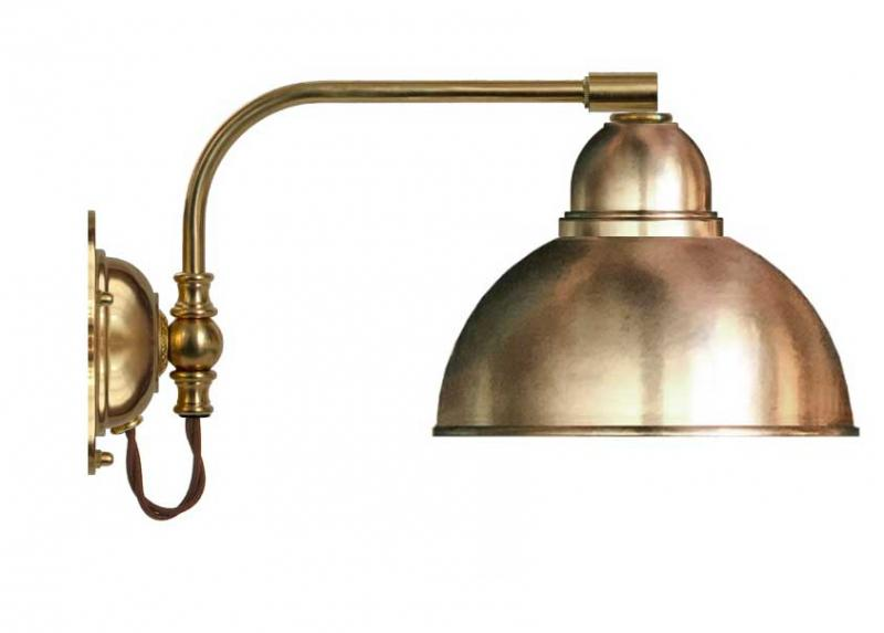 Wall lamp - Gripenberg 60 brass shade