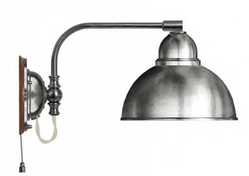 Wall lamp - Gripenberg nickel-treated brass shade