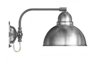 Wall lamp - Gripenberg nickel-treated brass shade