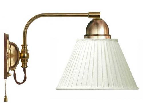 Wall lamp - Gripenberg 60 white textile shade