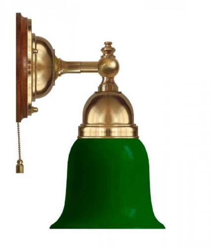 Wall lamp - Adelborg brass, green bell