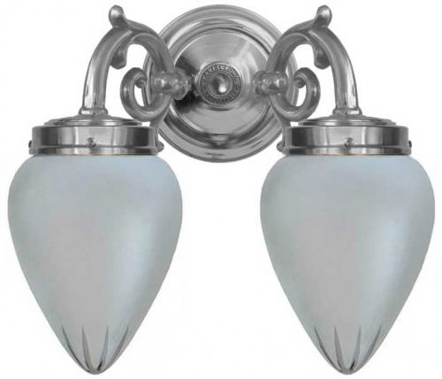 Bathroom wall lamp - Tegengren nickel matte glass
