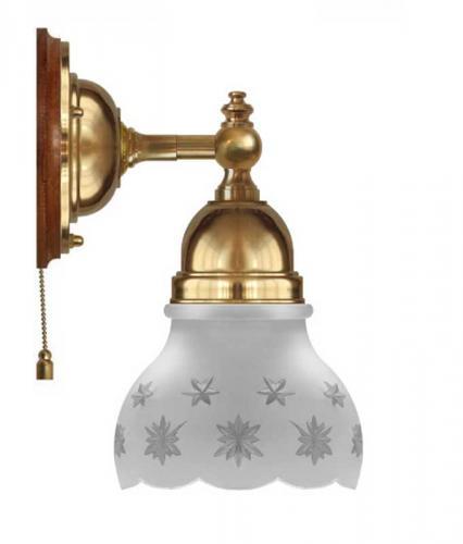 Wall Lamp - Adelborg brass, cut matte glass