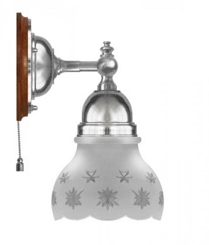 Wall Lamp - Adelborg nickel, cut matte glass