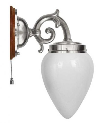 Wall lamp - Topelius nickel-plated with white drop
