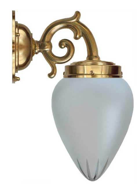 Bathroom Lamp - Topelius cut matte glass