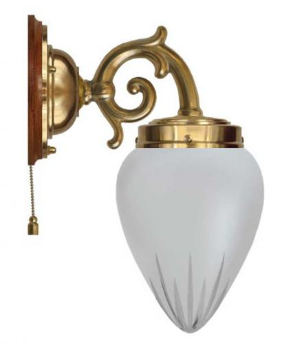 Wall lamp - Topelius cut matte glass