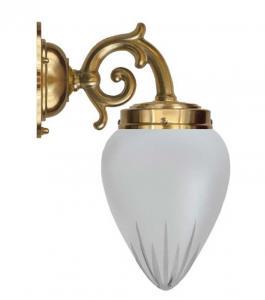 Vegglampe - Topelius slipt matt glass - arvestykke - gammeldags dekor - klassisk stil - retro