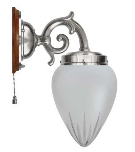 Wall lamp - Topelius nickel cut matte glass