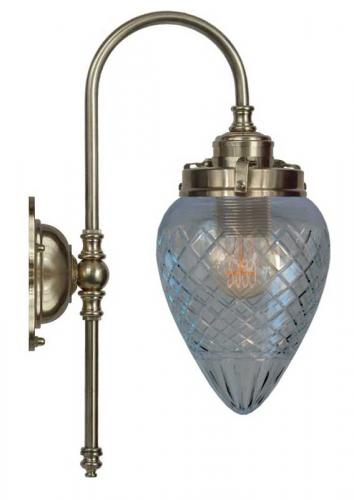 Wall lamp - Blomberg 80 antique brass drop clear