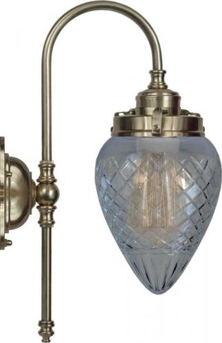 Vägglampa - Blomberg 80 antik droppe klarglas
