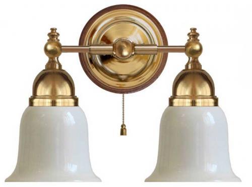 Wall lamp - Bergman brass, opal white bell