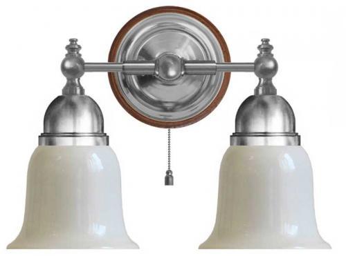 Wall lamp - Bergman nickel, opal white bell